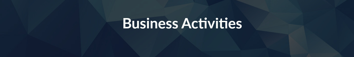 business activities banner